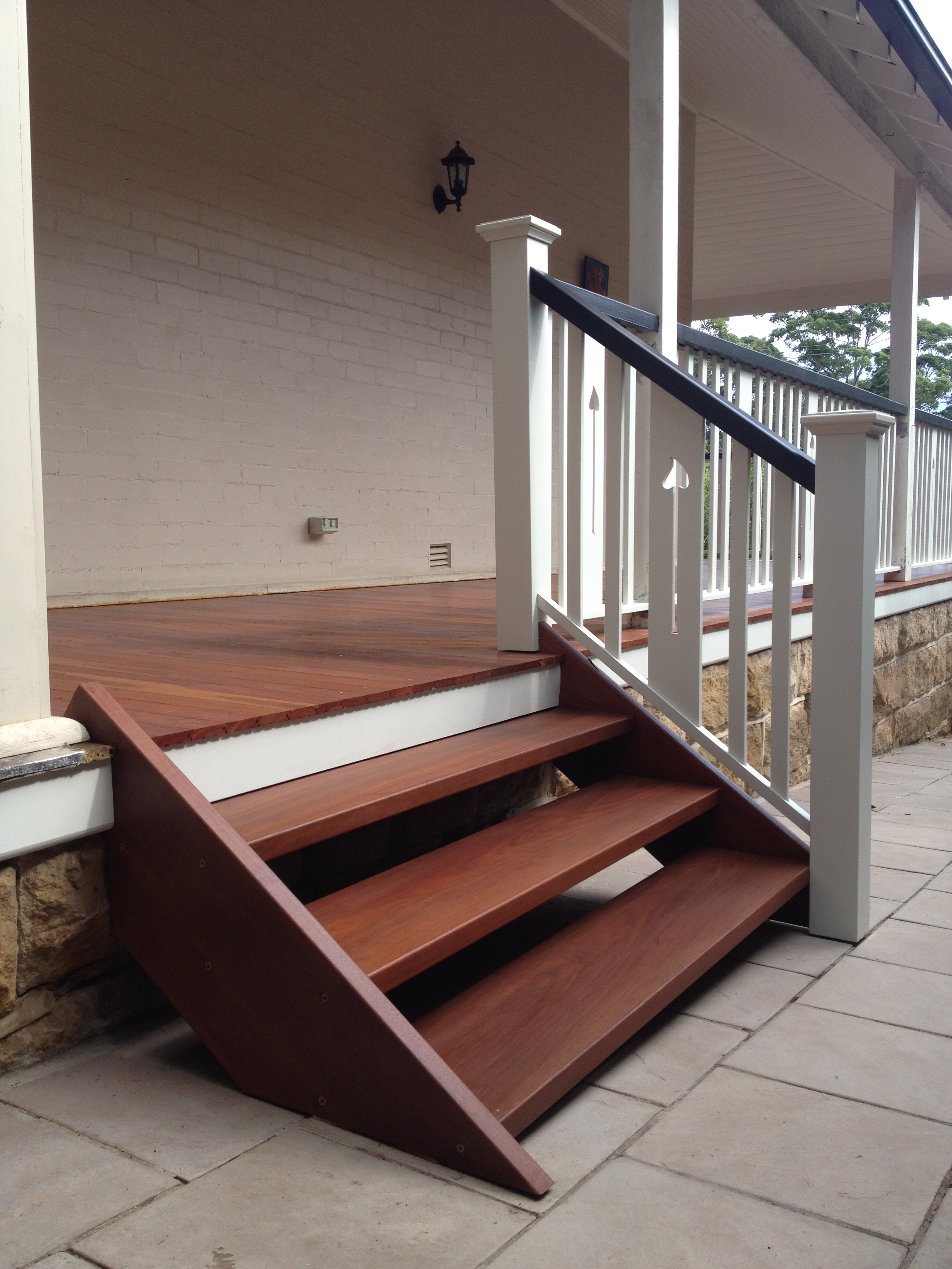 Decking Sydney-Red Iron bark steps