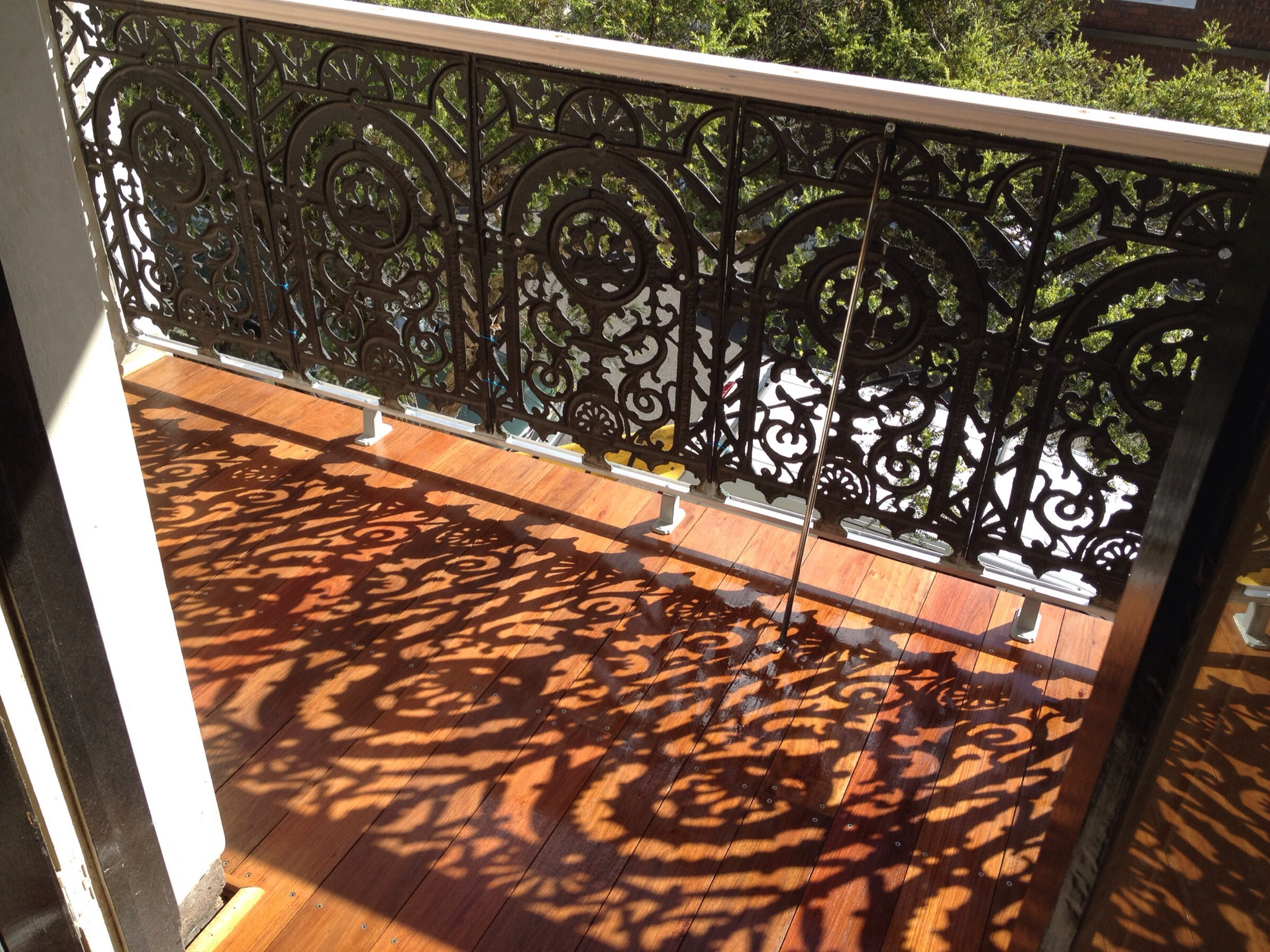 Hardwood Flooring to Balcony