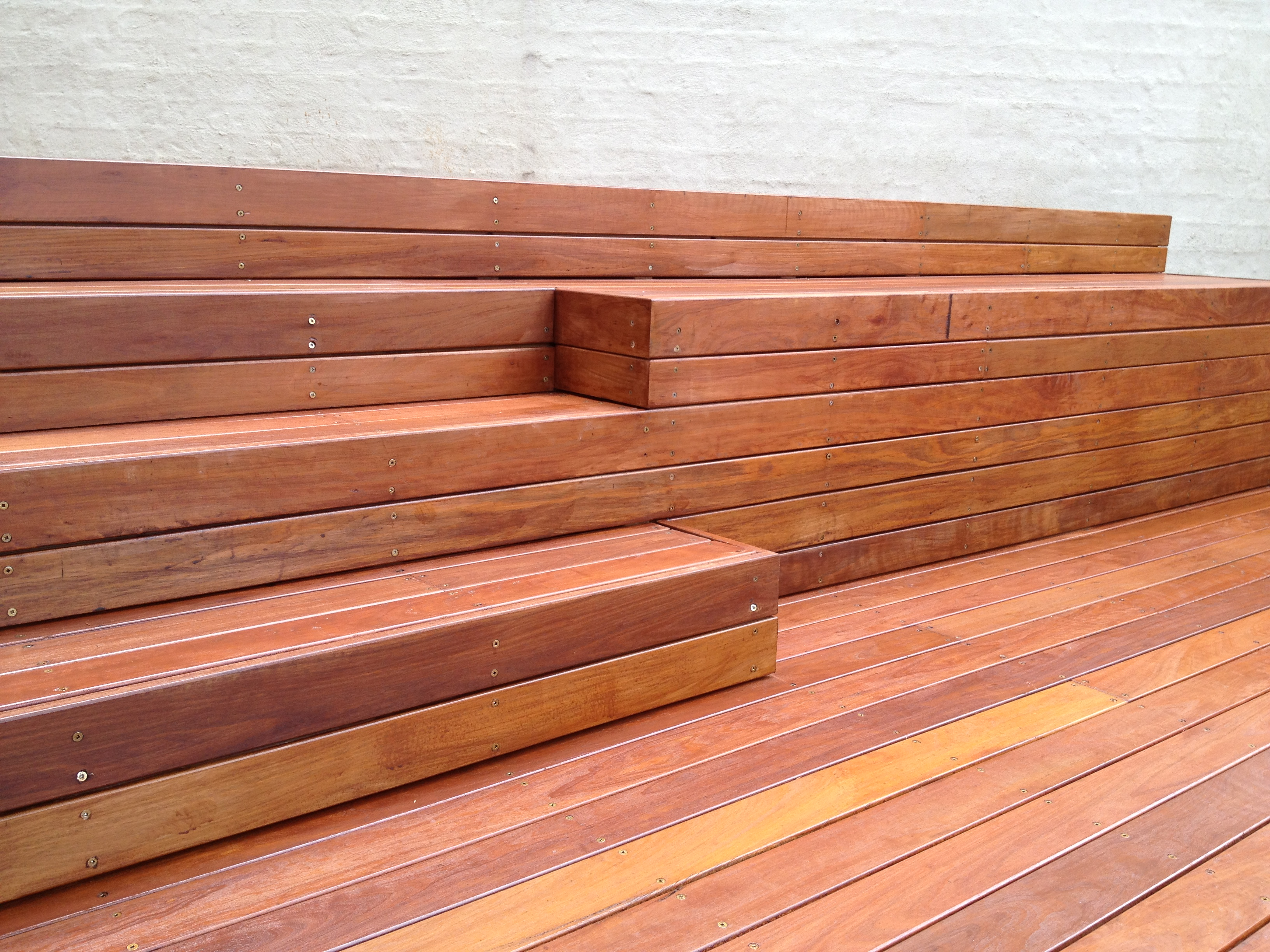 Decking steps before oil