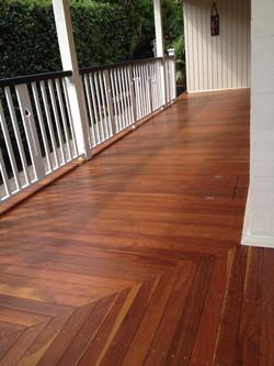 Veranda Decking Renovation iron bark