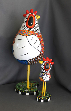 Quilted Gourd Chickens