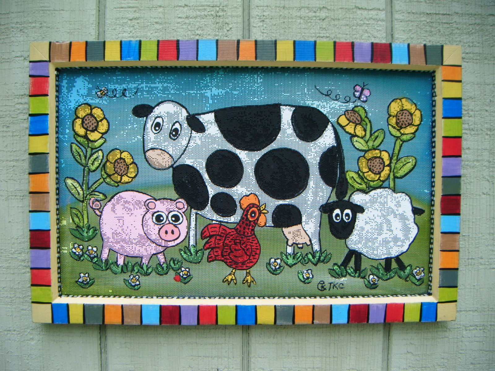 Farm Friends Screen Painting