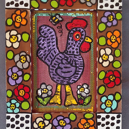 Those Kooky Chickens Mini Screen Painting