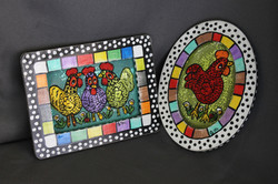 Chickens on Recycled Screen