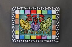 Kooky Chicken Trio Screen Painting