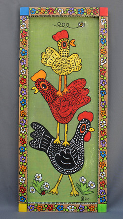 Chicken Stack Screen Painting