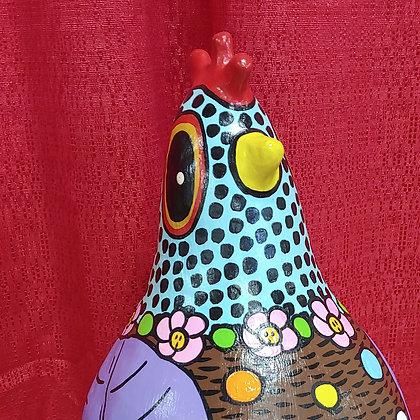 Polka Dot Brown Kooky Chicken
