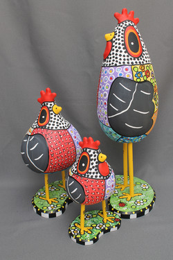 Quilted Kooky Chickens