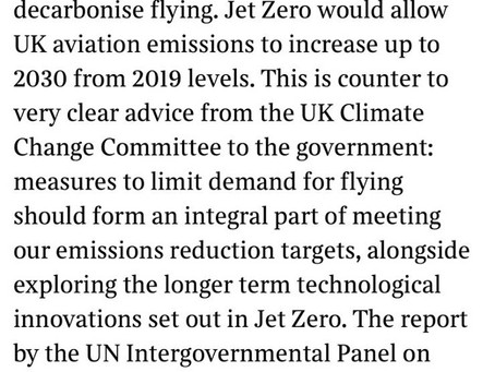 Letter in The Times from University of Leeds Expert: Include Demand Control Measures in Jet Zero