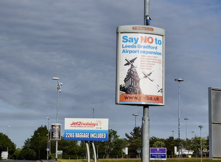 Press Release: Stop Airport Campaign Posters Around Leeds & Outside LBA