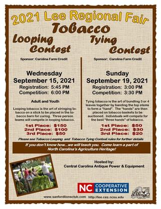 Tobacco Looping Tying flyer 2021