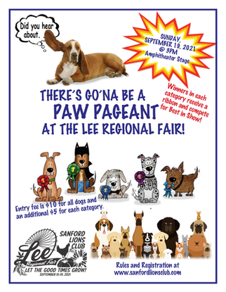 Paw Pageant Flyer