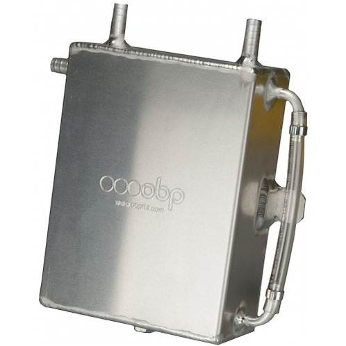 Baffled 2 Litre Square Bulk Head Mount Oil Catch Tank