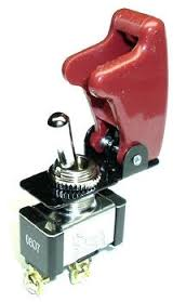ON/OFF Toggle Switch with Aircraft style Cover