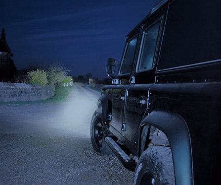 """GREAT White LED's Kit for Defender or any 4x4 with 7"""" Round Headlights"""