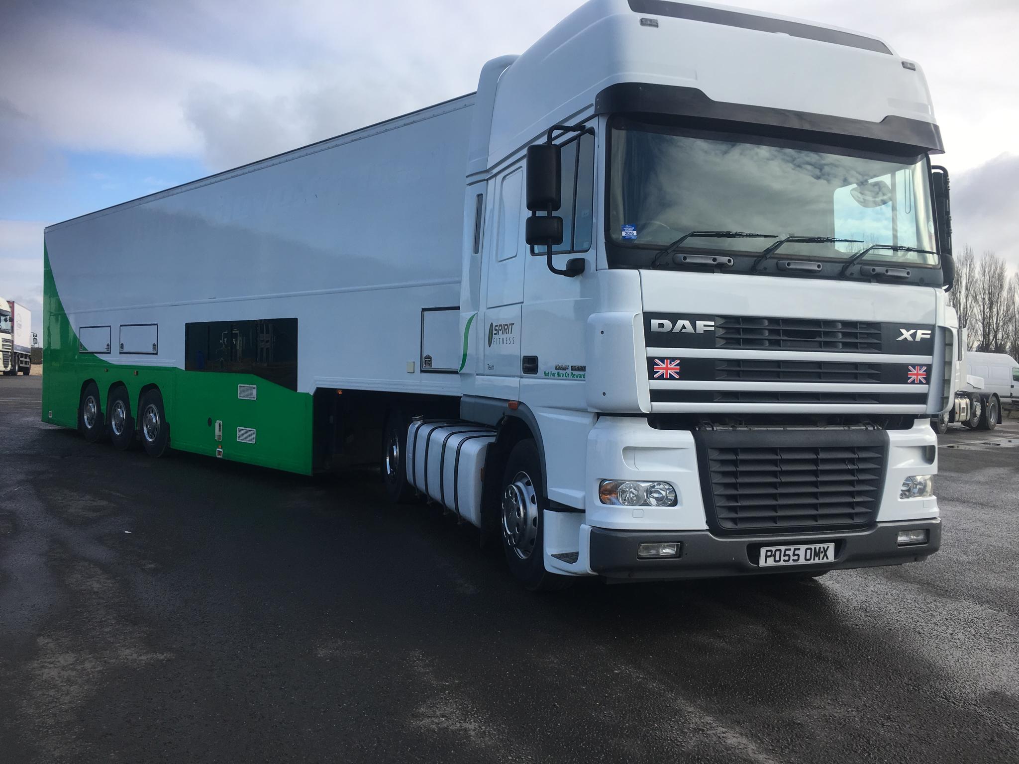 Truck on way to Portimao