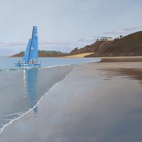 Le catamaran bleu