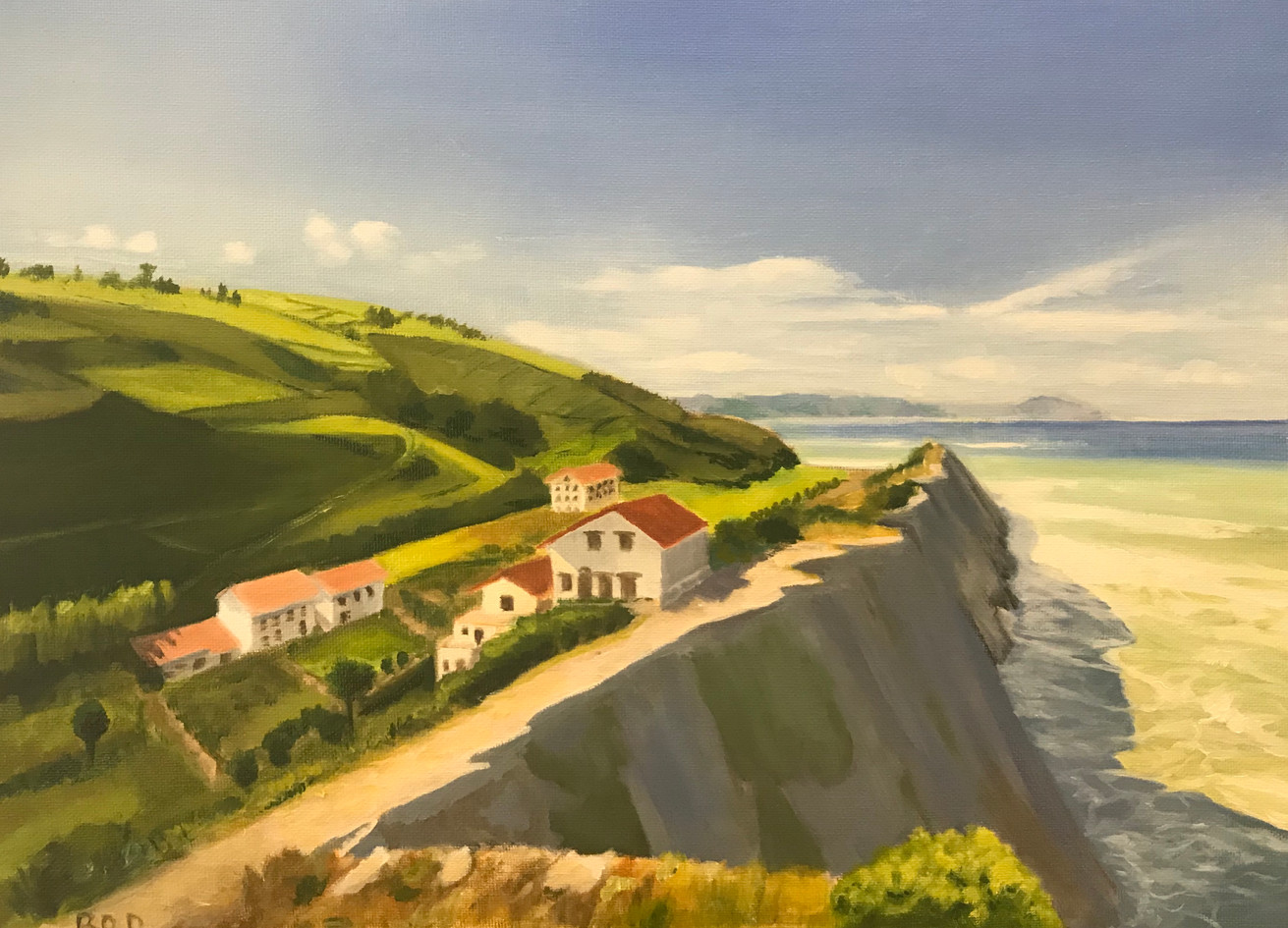Painting of a Basque landscape