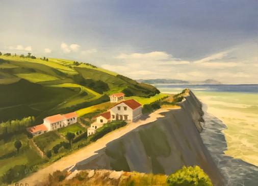 Tableau d'un paysage basque