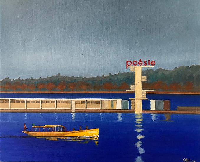 Les Bains de Pâquis ou  Poésie en bleu