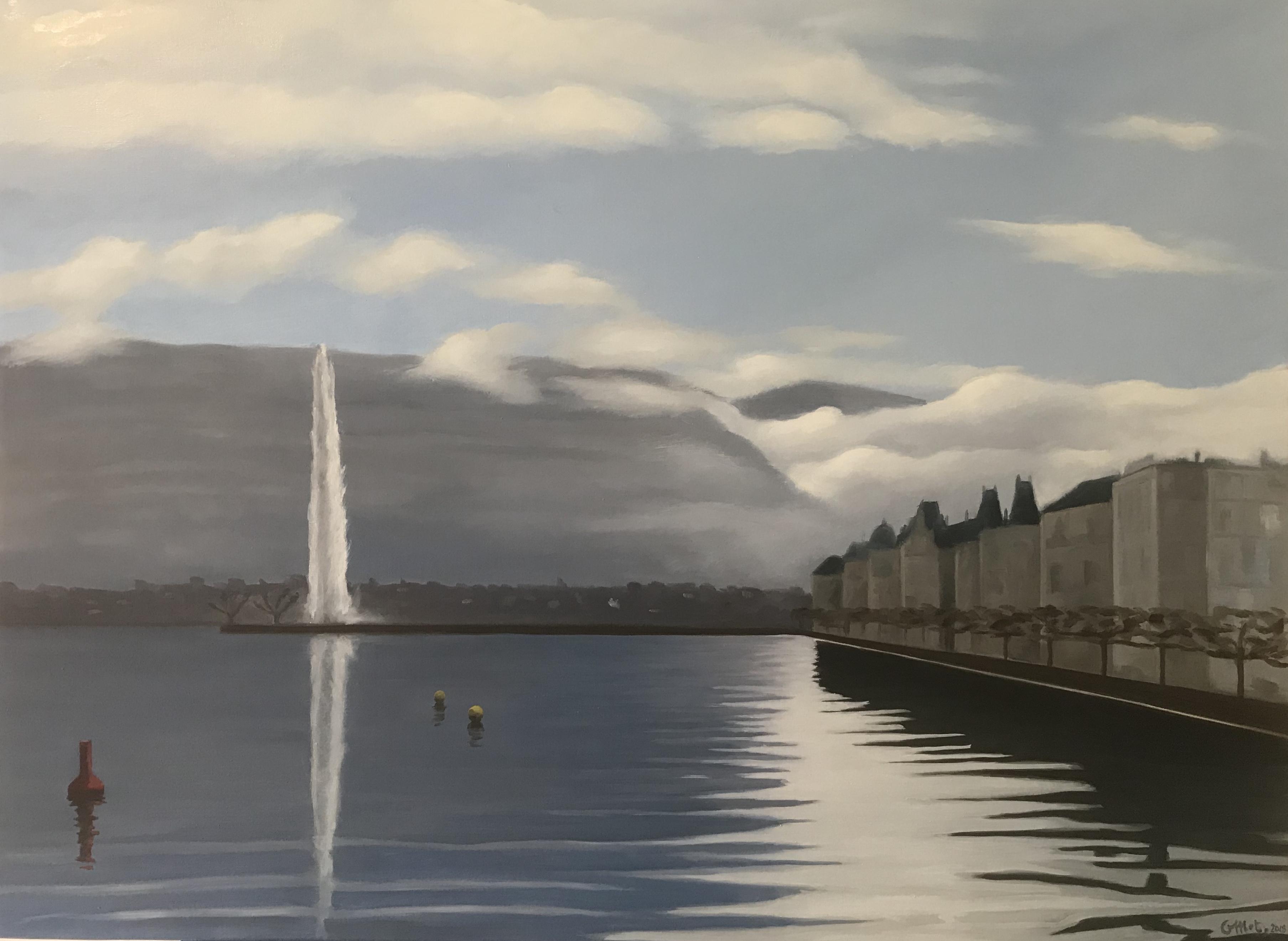 Genève dans les nuages