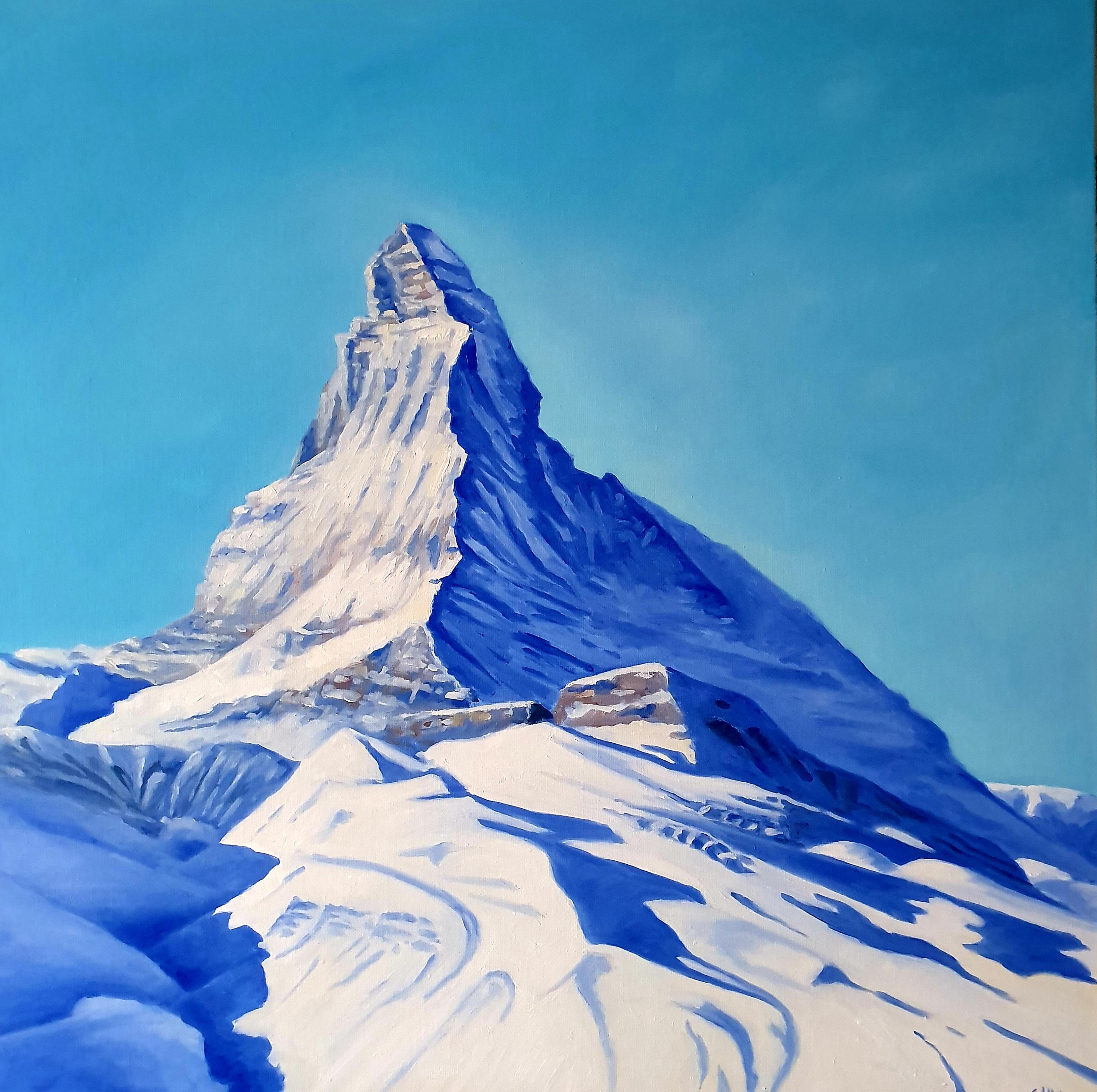 Mont Cervin en bleu