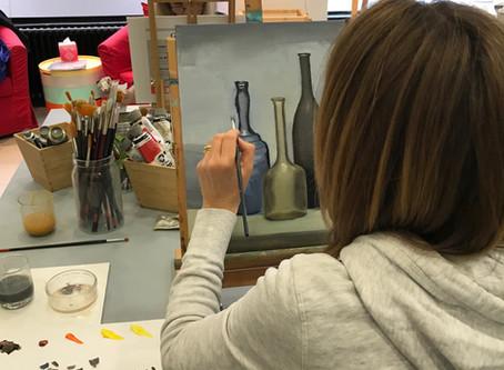 Reprise des cours de peinture à Genève