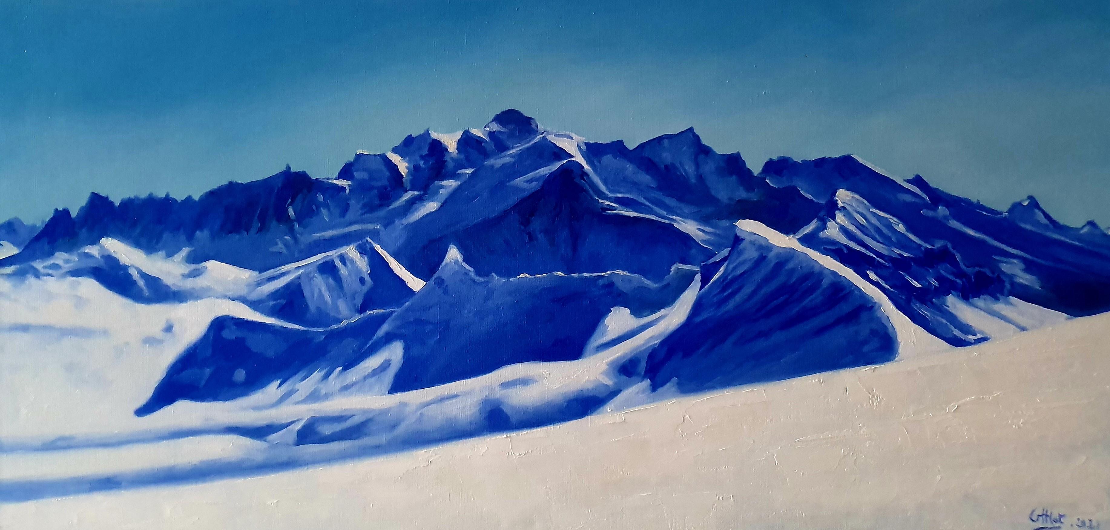 Mont Blanc en bleu