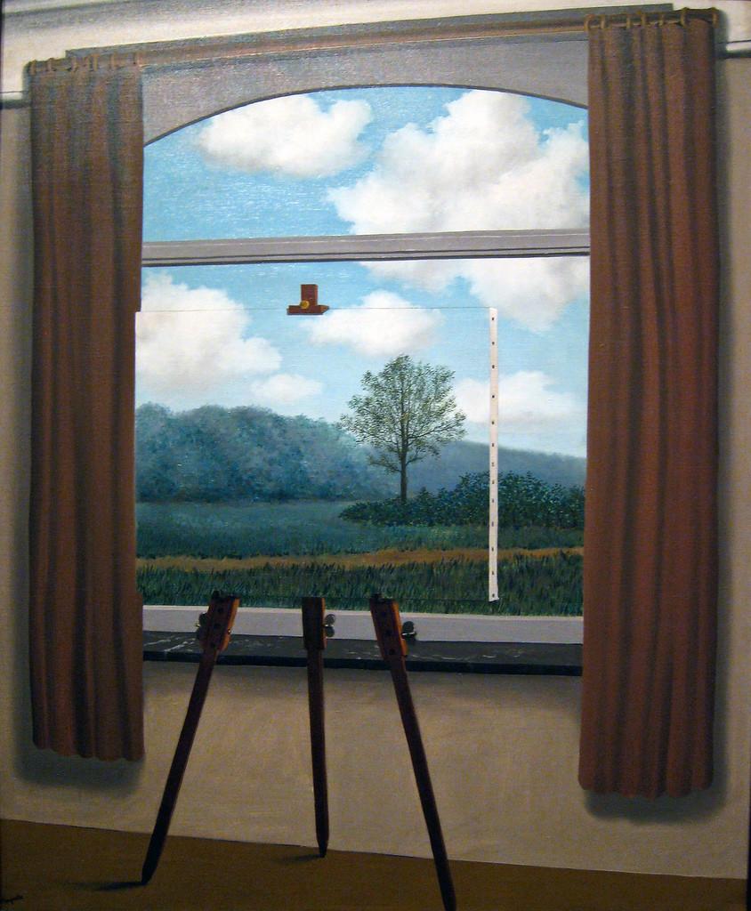La condition humaine, Magritte, peinture surréaliste