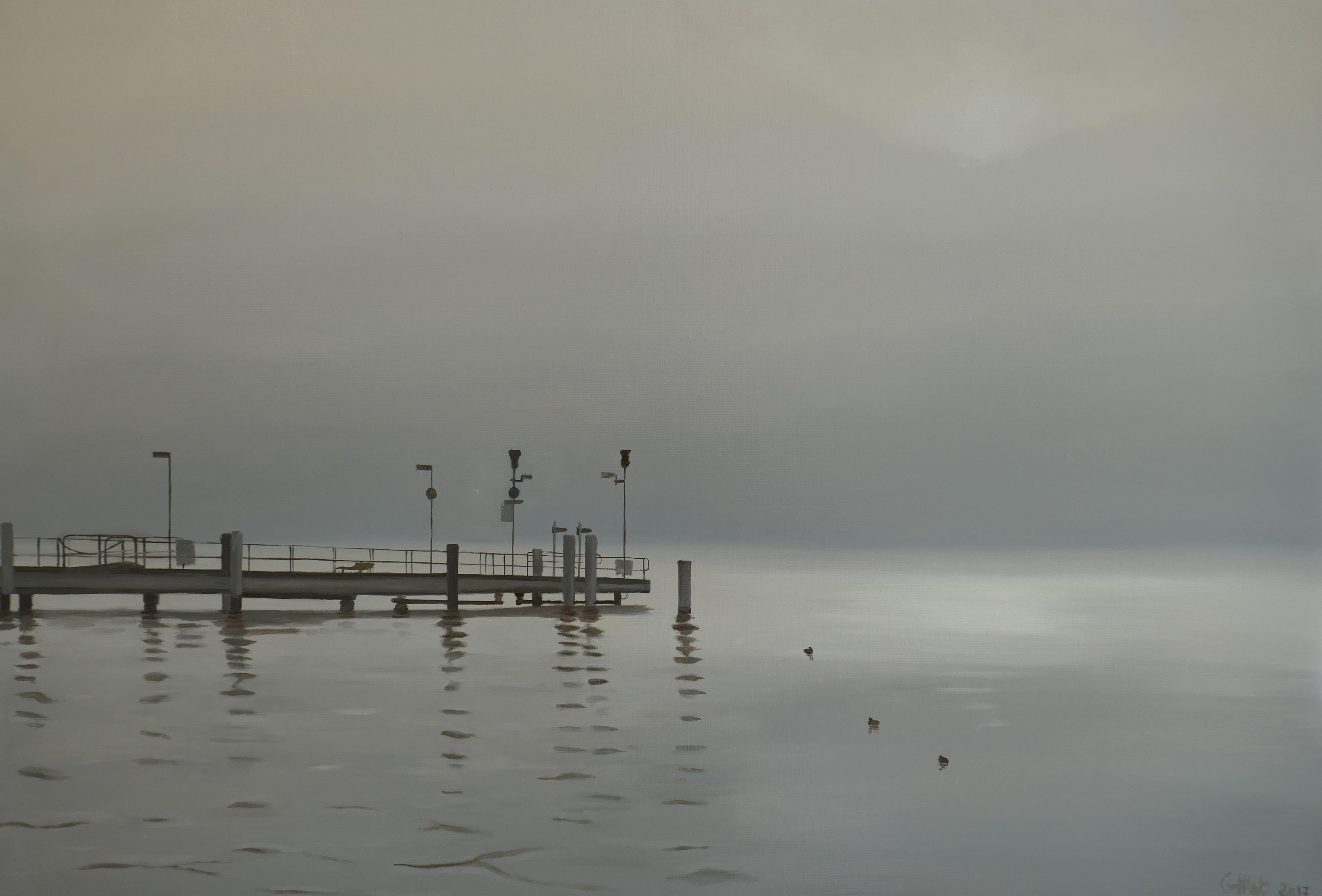 Jetée dans la brume, Zurichsee