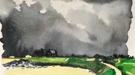 Tempête au Dinard Golf