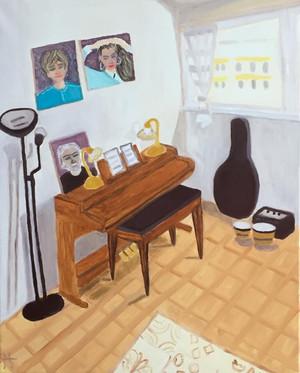 Intérieur d'artistes, Monica, 2020