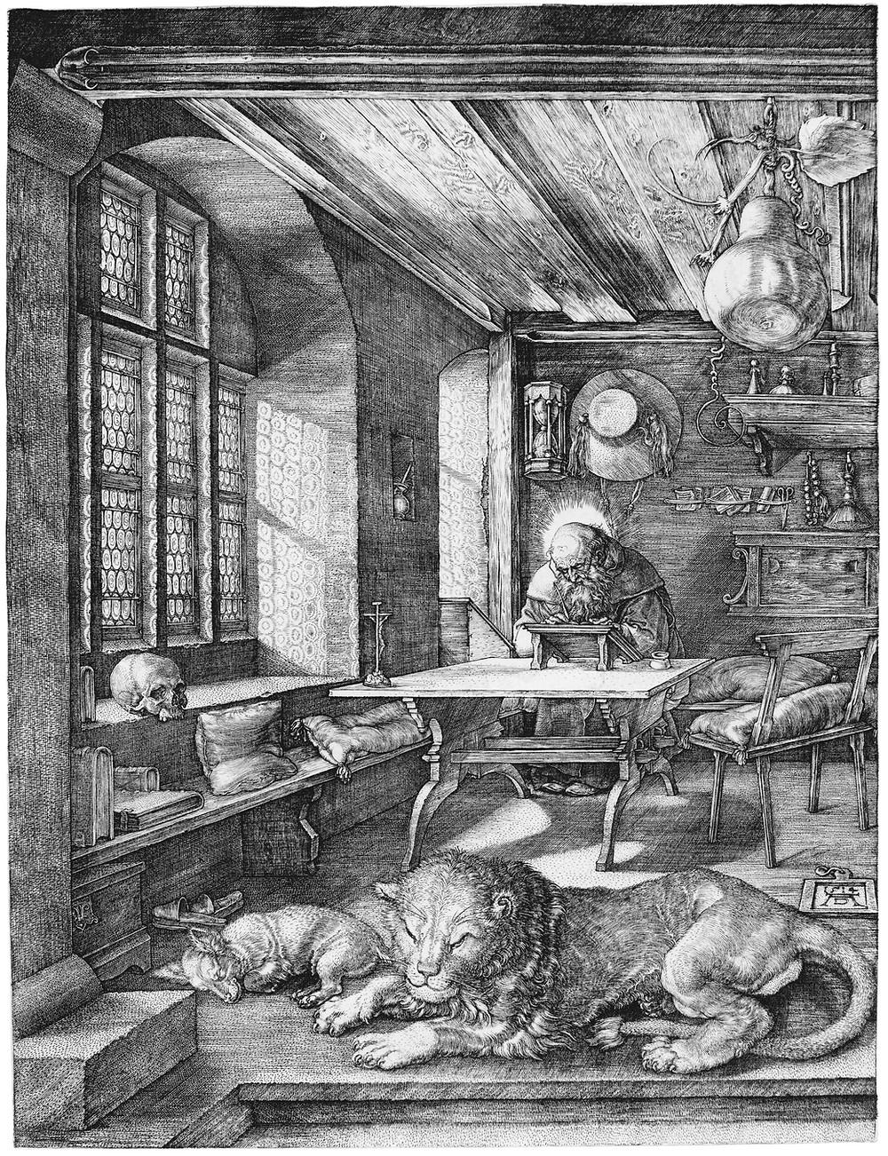 Saint Jérôme dans sa cellule, Albrecht Durer