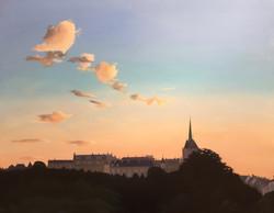 Rising sun in Geneva