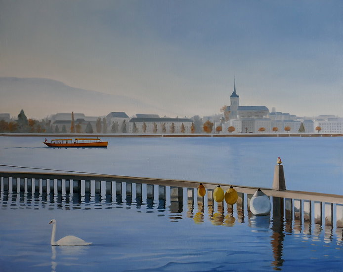 Mouette en Rade de Genève