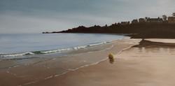 Contre jour sur la plage de longchamp