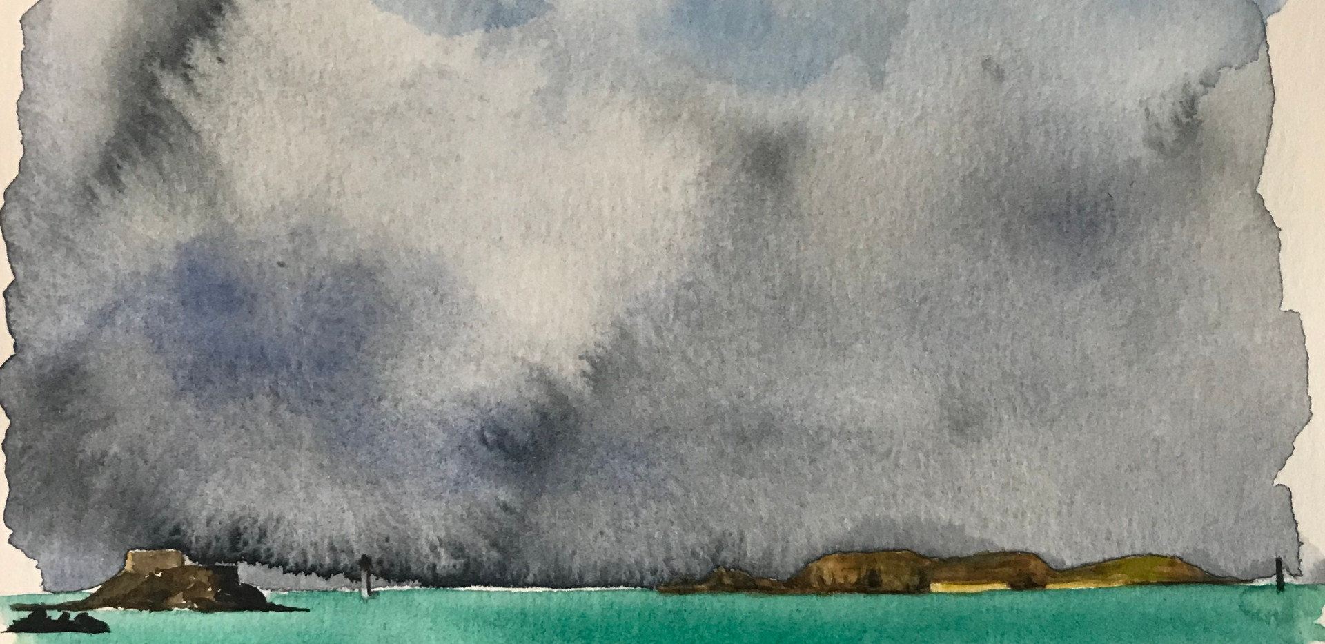 Cézembre Island in the storm