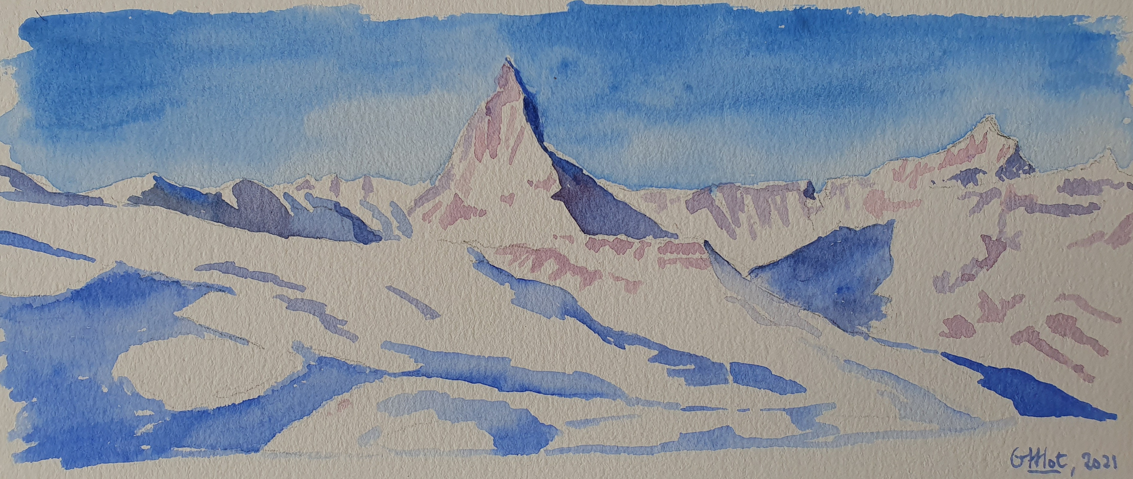 Aquarelle - Zermatt