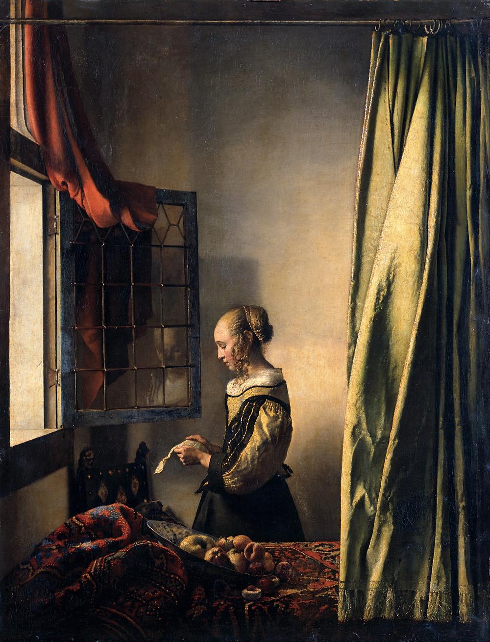 Tableau La Liseuse, Vermeer