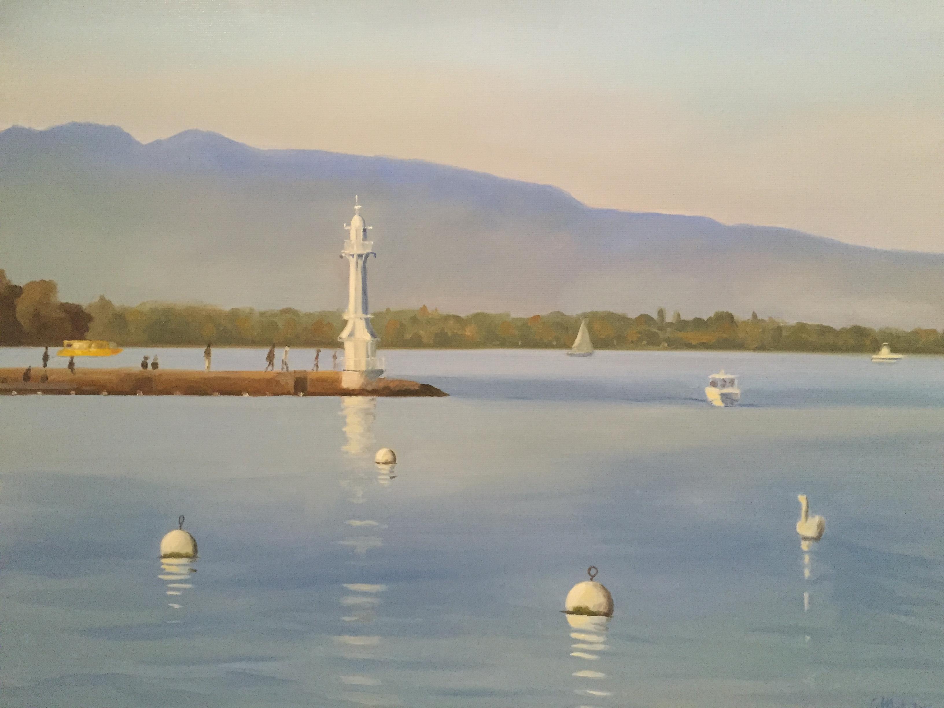 Bel après-midi sur le Lac de Genève