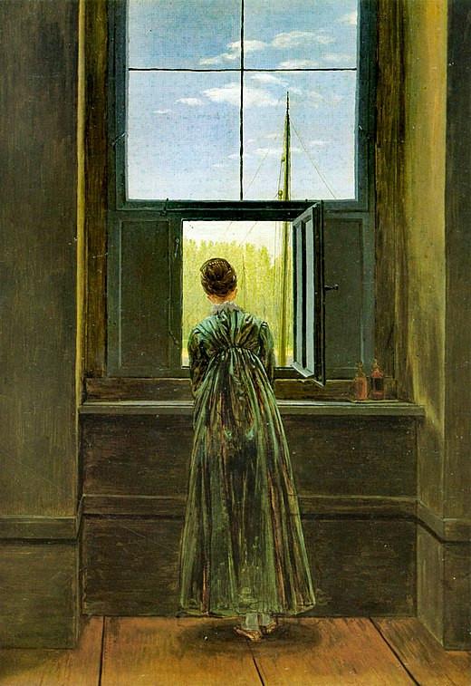 Femme à la fenêtre, Caspar Frederich, peintre romantique