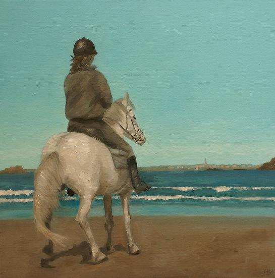 The rider on the beach of Saint-Lunaire, 2