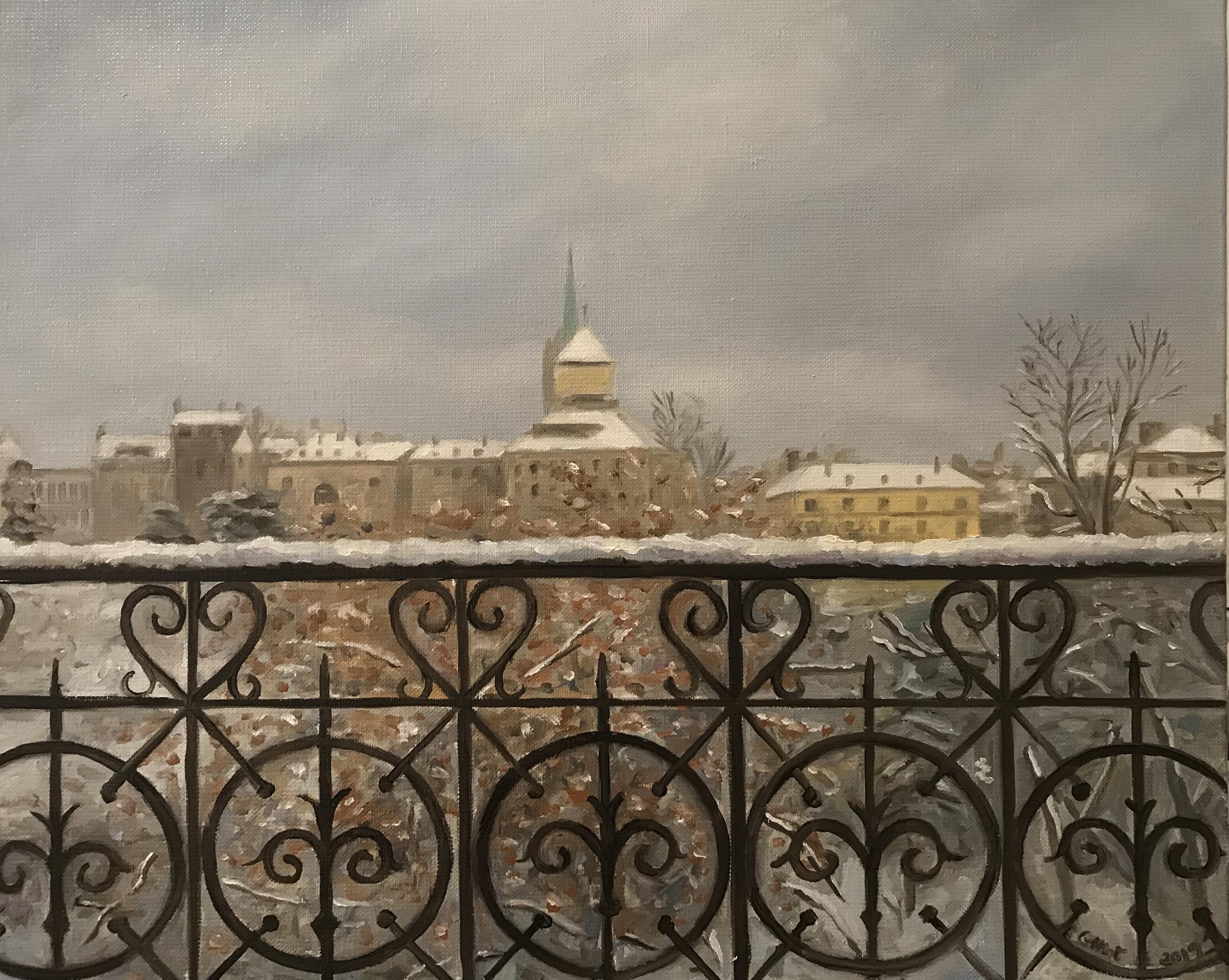 Parc des Bastions sous la neige