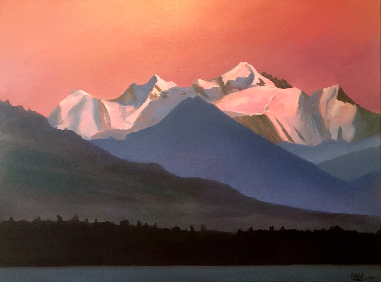 Coucher de soleil sur le Mont Blanc
