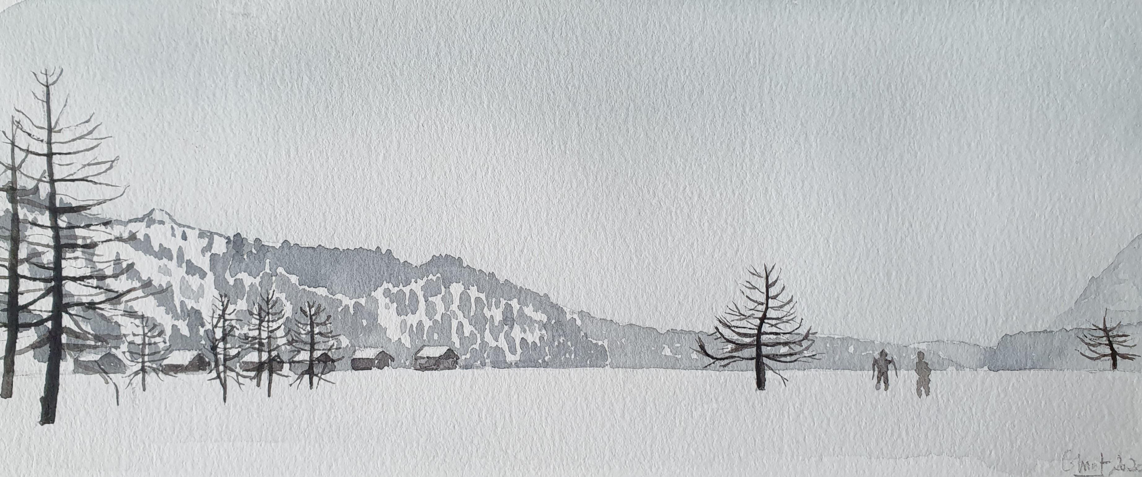 2020, Sils, Promenade sur le lac