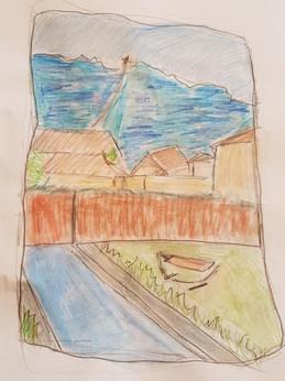 Vue de ma fenêtre, Adèle, 2020