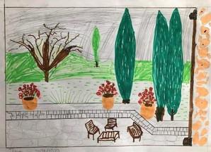Une terrasse à Aix, Thomas, 2020