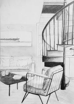 L'escalier, Maylis, 2020