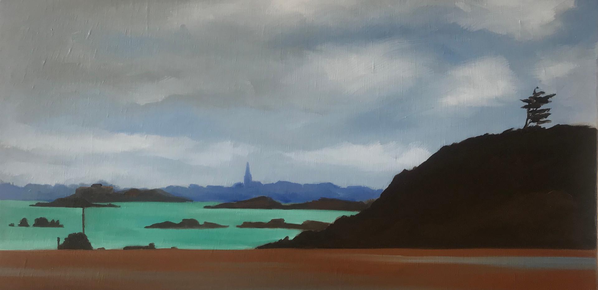 Peinture Plage de Saint Lunaire