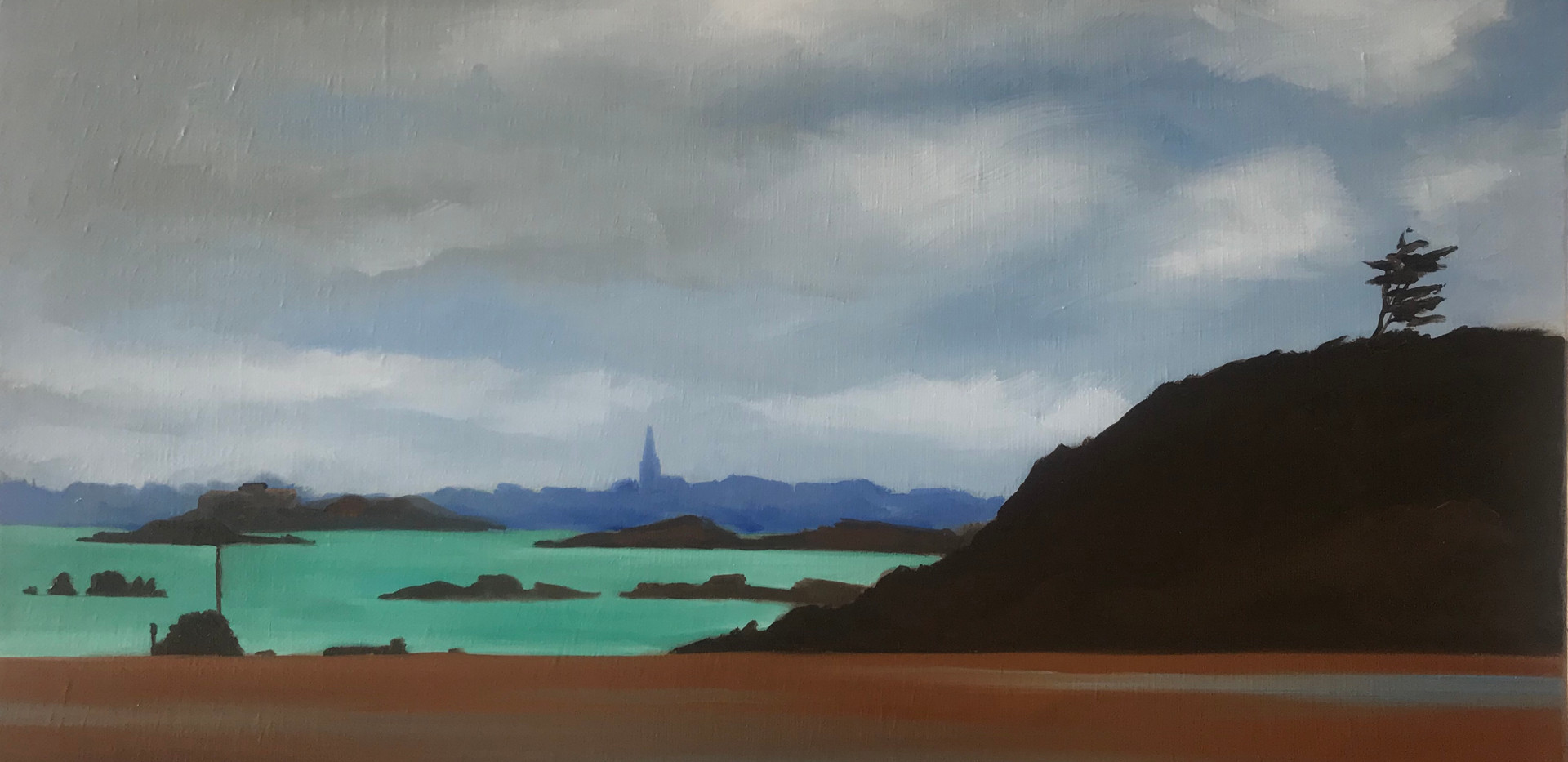 Painting Saint Lunaire Beach